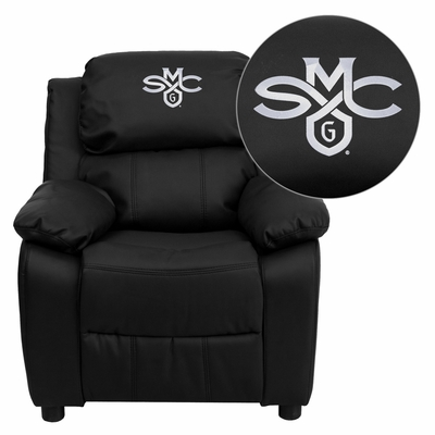 Saint Mary's College of California Gaels Black Leather Kids Recliner - BT-7985-KID-BK-LEA-41067-EMB-GG