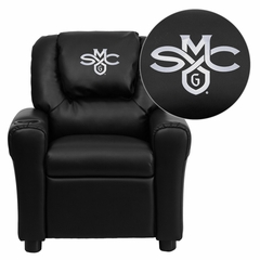 Saint Mary's College of California Gaels Black Vinyl Kids Recliner - DG-ULT-KID-BK-41067-EMB-GG