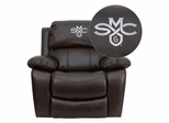 Saint Mary's College of California Gaels Brown Leather Rocker Recliner - MEN-DA3439-91-BRN-41067-EMB-GG