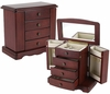 Salzburg Jewelry Box in Dark Cherry - JBQ-CL552
