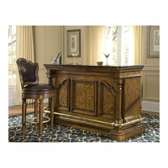 San Mateo Home Bar with Matching Stool - Pulaski
