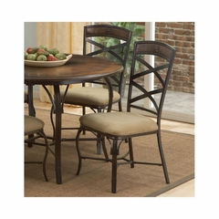 San Miguel Side Chair - Set of 2 Antique Brown - Largo - LARGO-ST-D191-41