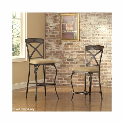 San Miguel Stationary Stool Antique Brown - Set of 2 - Largo - LARGO-ST-D191-STOOL