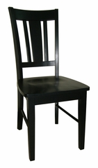 San Remo Splatback Chair (Set of 2) in Black - C46-10P