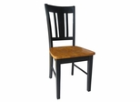 San Remo Splatback Chair (Set of 2) in Black / Cherry - C57-10P