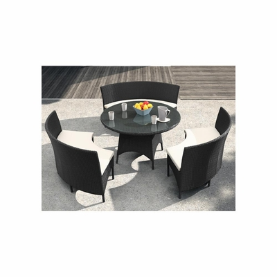 San Sebastian Outdoor Table Set in Espresso - Zuo