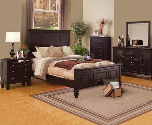 Sandy Beach Classic  5PC Bedroom Set in Cappuccino - 201991X