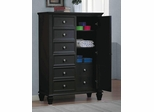 Sandy Beach Door Dresser in Black - 201328