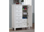 Sandy Beach Door Dresser in White - 201308