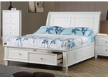 Sandy Beach Sleigh Bed with Footboard Storage - 400239T