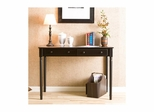 Satin Black 2 Drawer Writing Desk - Holly and Martin