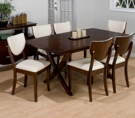Satin Walnut 7 Piece Rectangular Dining Set - 433-72