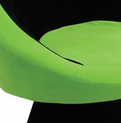 Saucer Chair Black/Green - LumiSource - CHR-SAUCE-BK-GN