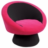 Saucer Chair Black/Hot Pink - LumiSource - CHR-SAUCE-BK-PK