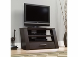 "Sauder 42"" Panel TV Stand with Drawer Jamocha Wood"