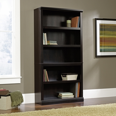 Sauder 5 Shelf Bookcase Estate Black