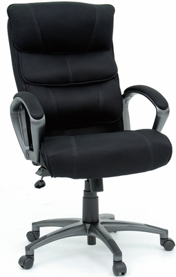 Sauder Air Comfort Executive Chair Black Fabric