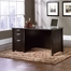 Sauder Aspen Pedestal Desk Wind Oak