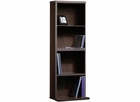 "Sauder Beginnings 12 1/2"" W Multimedia Storage Tower Cinnamon Cherry"