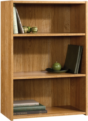 Sauder Beginnings 3-Shelf Bookcase Highland Oak