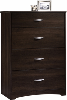 Sauder Beginnings 4 Drawer Chest Cinnamon Cherry