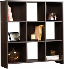 Sauder Beginnings 9-Cubby Storage Organizer Cinnamon Cherry