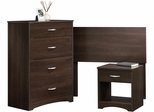 Sauder Beginnings Bedroom In A Box Cinnamon Cherry