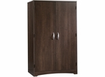 Sauder Beginnings Computer Armoire Cinnamon Cherry