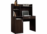 Sauder Beginnings Computer Desk with Hutch Cinnamon Cherry