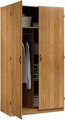 Sauder Beginnings Double Door Storage Cabinet with Shelves Highland Oak