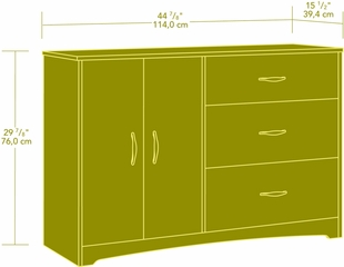 Sauder Beginnings Dresser Cinnamon Cherry