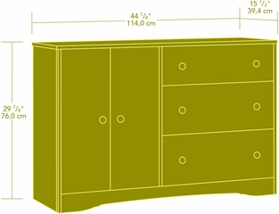 Sauder Beginnings Dresser Highland Oak