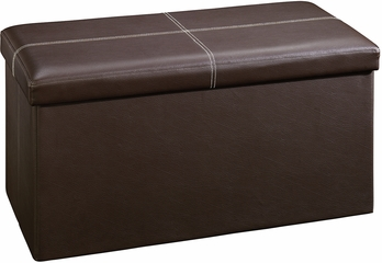 Sauder Beginnings Large Ottoman Duraplush Brown