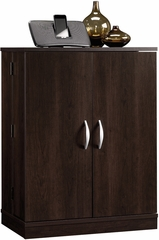 Sauder Beginnings Multimedia Storage Cabinet Cinnamon Cherry