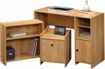 Sauder Beginnings Office In A Box Highland Oak