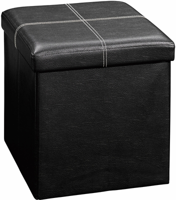 Sauder Beginnings Small Ottoman Duraplush Black