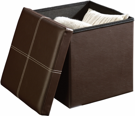 Sauder Beginnings Small Ottoman Duraplush Brown