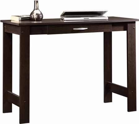 Sauder Beginnings Writing Table with Storage Drawer Cinnamon Cherry