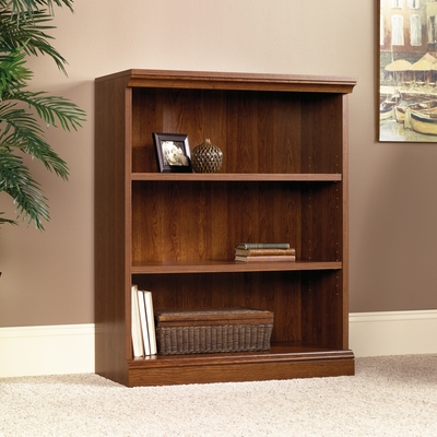 Sauder Camden County 3-Shelf Bookcase Planked Cherry