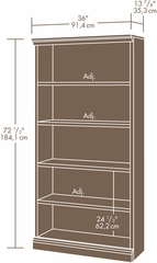 "Sauder Camden County 36"" W Library Planked Cherry"