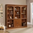 Sauder Camden County Library Wall System with Doors Planked Cherry