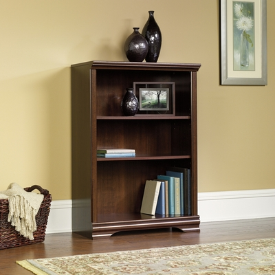 Sauder Carolina Estate 3-Shelf Bookcase Select Cherry