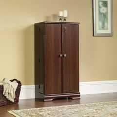 Sauder Carolina Estate Multimedia Storage Cabinet Select Cherry
