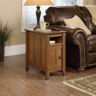Sauder Carson Forge Chairside Table Washington Cherry