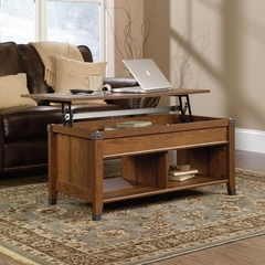 Sauder Carson Forge Lift-Top Coffee Table Washington Cherry