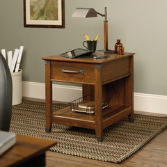 Sauder Carson Forge Smartcenter Side Table Washington Cherry