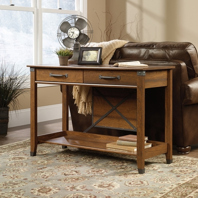 Sauder Carson Forge Sofa Table Washington Cherry