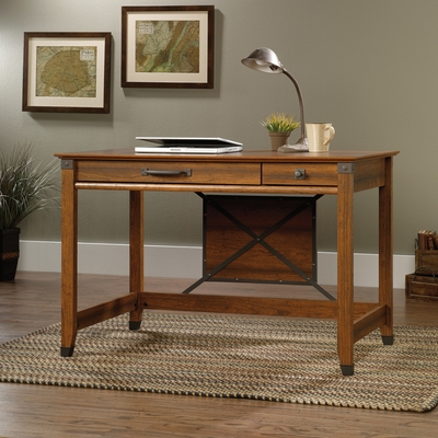 Sauder Carson Forge Writing Desk Washington Cherry