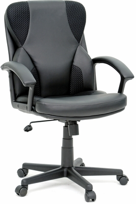 Sauder Contoured Back Managers Chair Duraplush Black with Mesh
