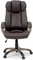 Sauder Deluxe Brown Leather Executive Chair